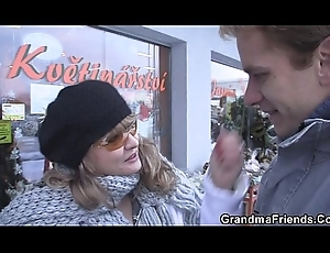 Twosome dudes bangs lustful mother