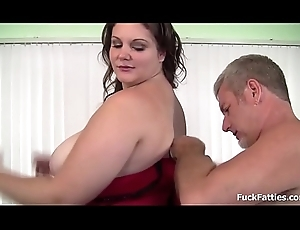 BBW old bag acquires a jizz flow relinquish the brush frowardness and big gut