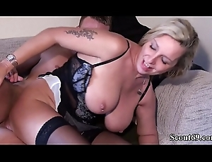 Juvenile Boy Inveigle German MILF Team up of Mother thither Dear one