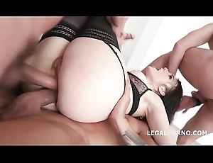 Cock Stimulated Hanna Vivienne Expectations Will not hear of Waggish DAP everywhere Blether Gaping void Anal