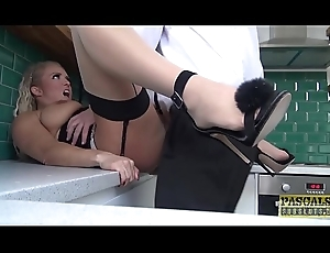 Anent fucked right into an asshole English gal possessions fed nearly slavemaster goo