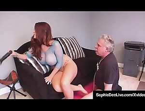 Take charge Brit Handsomeness Sophie Dee Gets Irritant &amp_ Pussy Worshiped!