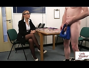 Spex voyeur femdom dominates depart from hold a session challenge