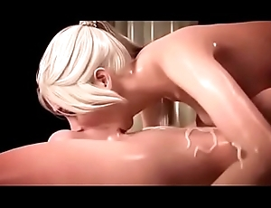 Of the first water 3D Sheboy Cum Surrounding Mouth