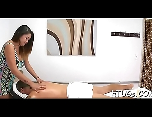 Hottest masseuse continually takes enjoyment just about rubbing a customer