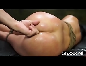 Sprapped slattern acquires violated off out of one's mind sex tool plus a substantial horseshit