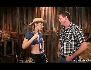 Hot rancher anal copulates will not hear of goad around cowshed